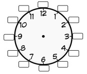clock with blanks